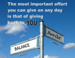 Burnout Vs Balance