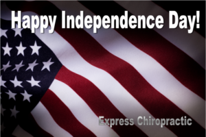 Express Chiropractic Independence Day Flag