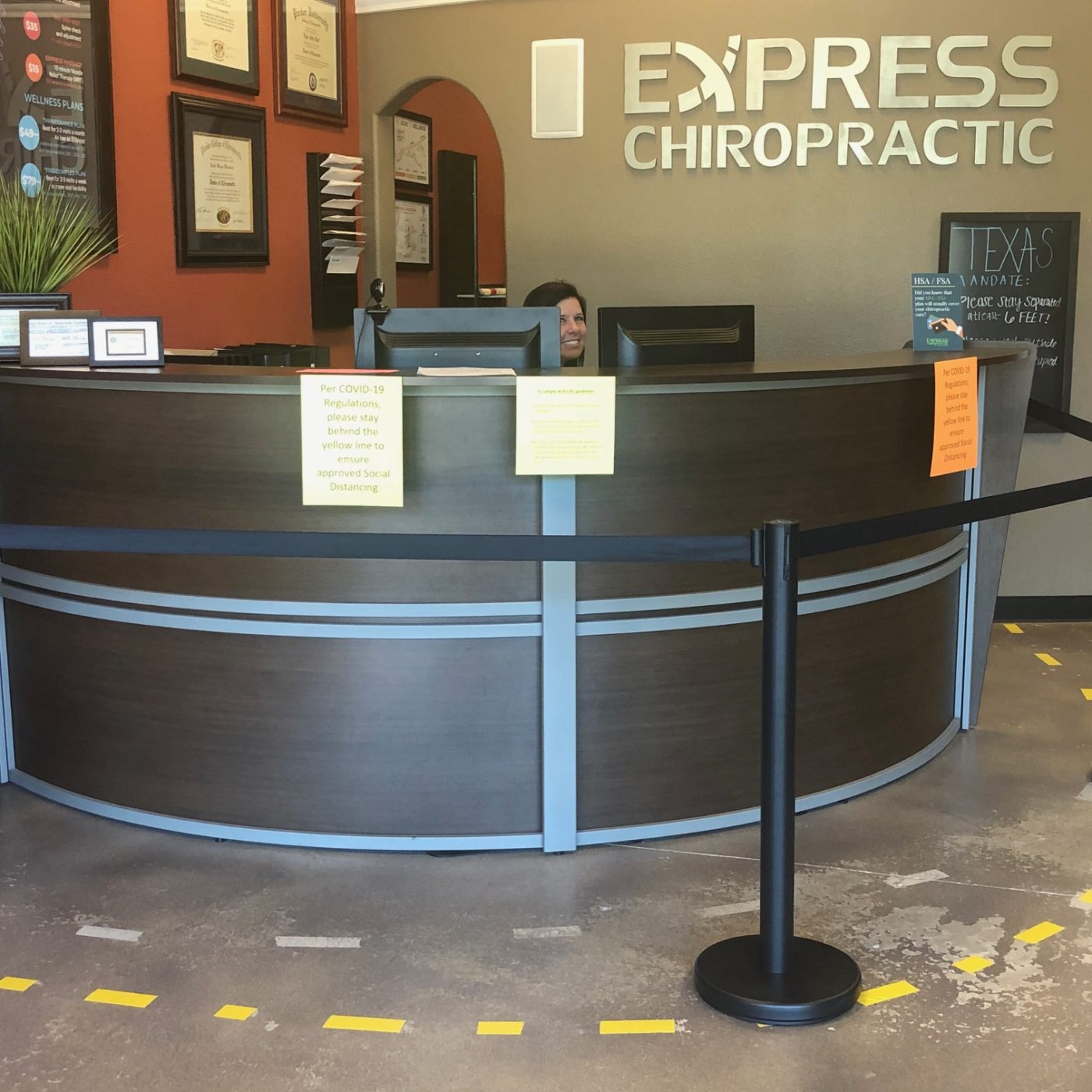 Express Keller Physical Distancing
